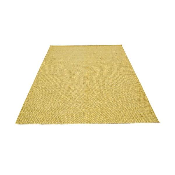 Ručne tkaný koberec Yellow Zigzag Kilim, 160x230 cm