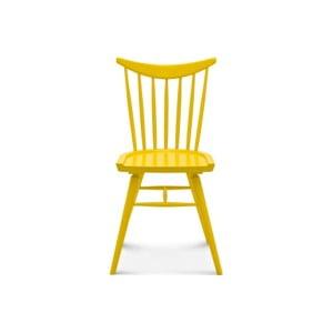 Žltá drevená stolička Fameg Age