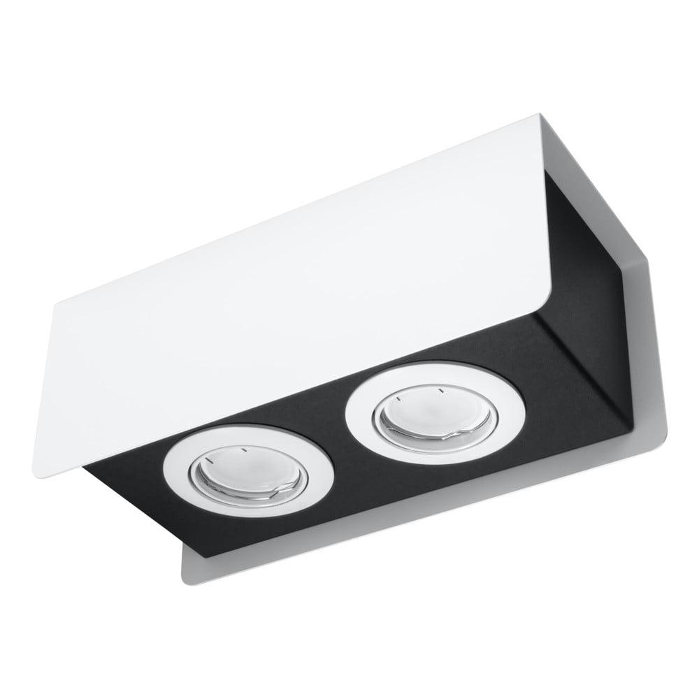 Bielo-čierne stropné svietidlo Nice Lamps Sain Duo