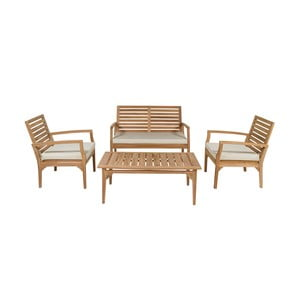 Sada záhradného nábytku z teakového dreva Santiago Pons Ivory