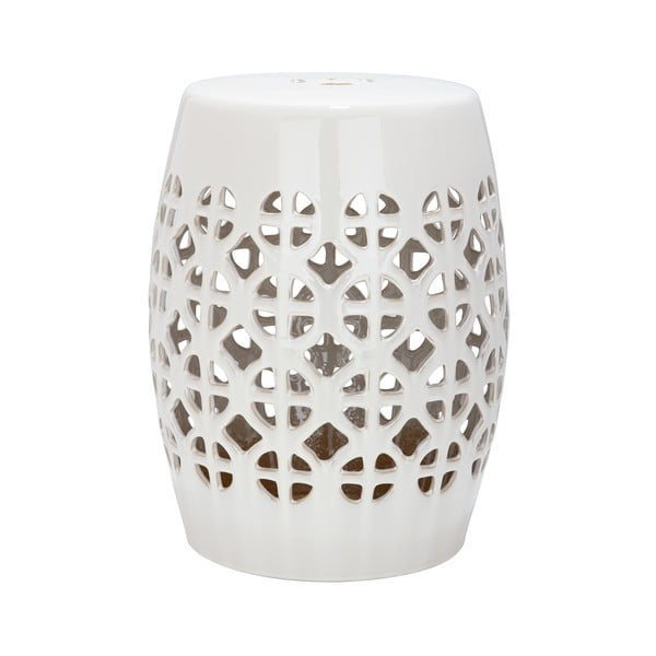 Svetlokrémový keramický stolík Safavieh Ravello
