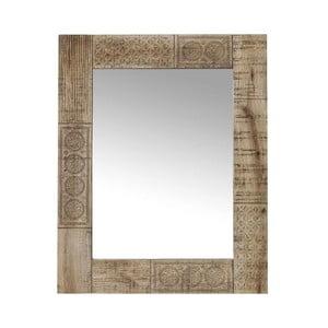 Zrkadlo s rámom z masívneho mangového dreva Massive Home Ella, dĺžka 90 cm