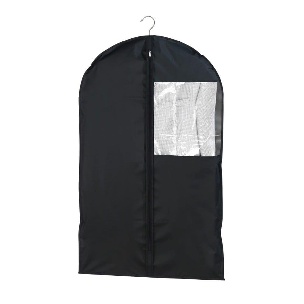 Čierny obal na oblek Wenko, 100 × 60 cm