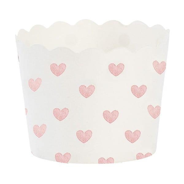 Papierové košíčky na muffiny Rose Heart, 24 ks