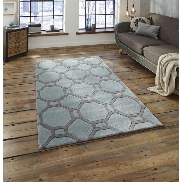Modro-sivý koberec Think Rugs Tile, 90x150cm