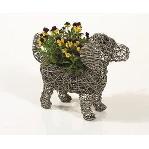 Dekoratívny ratanový kvetináč Dog Planter