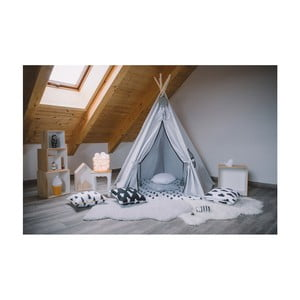 Päťuholníkové teepee Vigvam Design Grey and Black