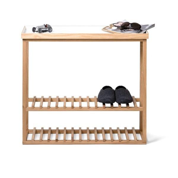 Polica na topánky/úložný stolík s bielou doskou Wireworks Hello Storage