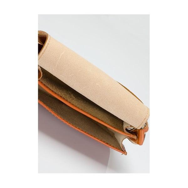 Koňakovohnedá kožená kabelka Giulia Massari Gitte