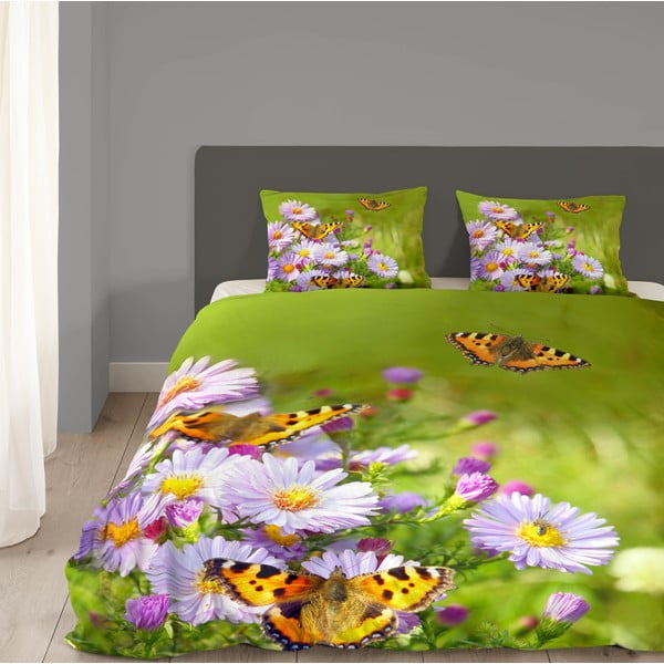 Zelené obliečky Muller Textiel Butterfly, 240x200cm