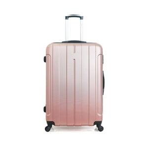 Cestovný kufor vo farbe ružového zlata na kolieskach Hero Fogo, 60l