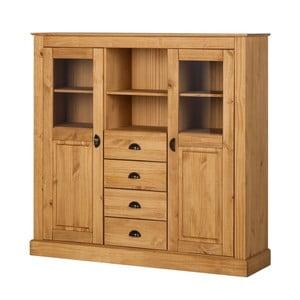 Prírodný príborník so 4 zásuvkami z borovicového dreva Støraa Tommy