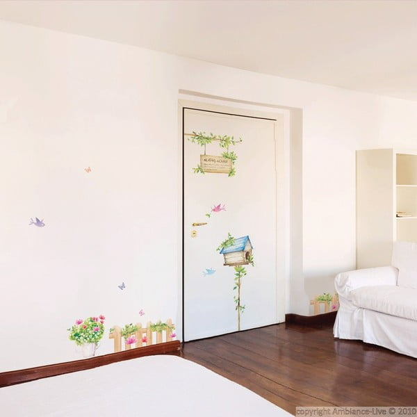 Sada samolepiek Ambiance Happy House, 42x30cm