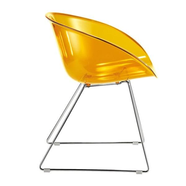 Žltá stolička Gliss Pedrali 921