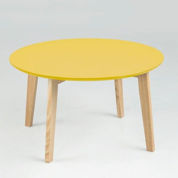 Odkladací stolík Molina  ⌀80 cm, žltý