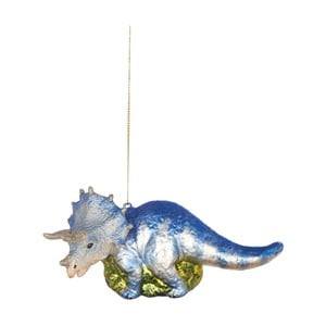 Vianočná závesná ozdoba zo skla Butlers Dinosaurus