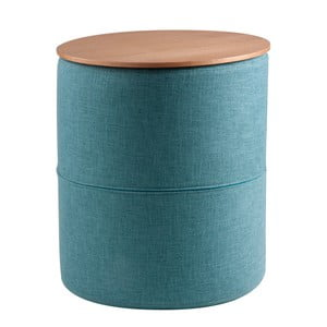 Tyrkysový odkladací stolík sdoskou vdekore dubového dreva sømcasa Leo