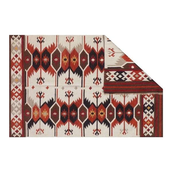 Ručne tkaný vlnený koberec Kilim Kushal, 150x245 cm