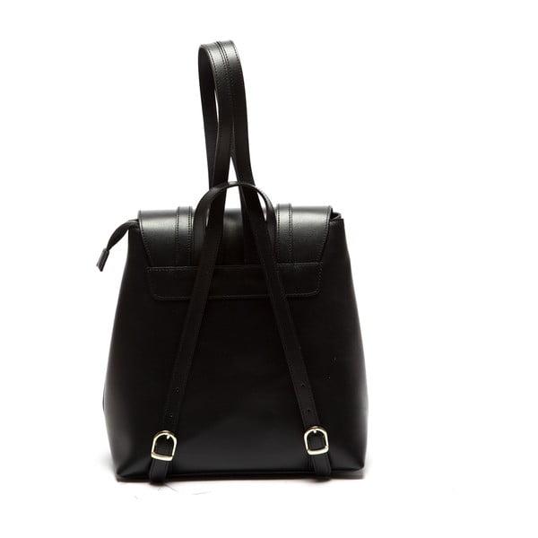 Čierny kožený batoh Sofia Cardoni Noemi