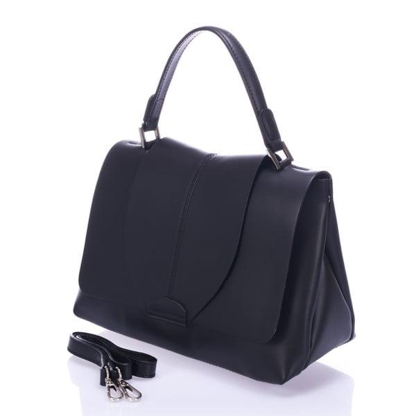 Čierna kožená kabelka Giorgio Costa Mijoria