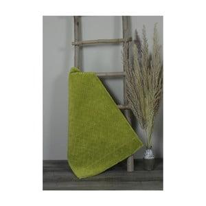 Zelená bavlnená kúpeľnová predložka My Home Plus Sensation, 60×90 cm