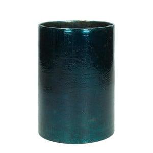 Modrý sklenený svietnik HF Living, výška 17 cm
