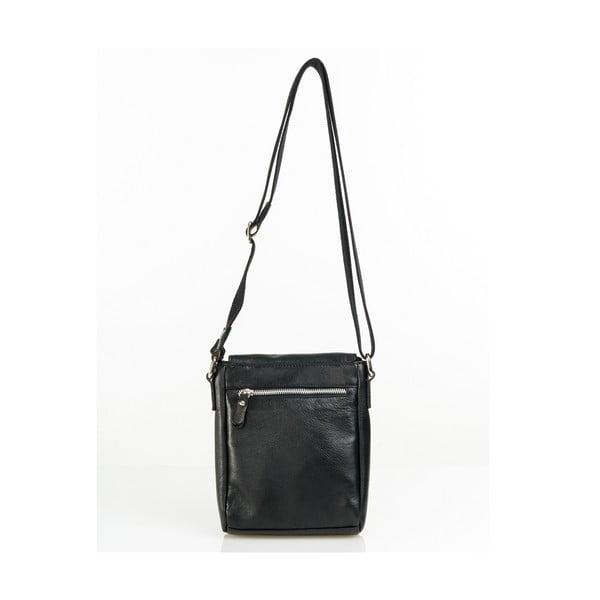 Kožená taška Florian, čierna