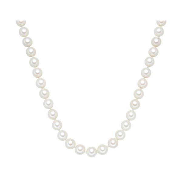 Náhrdelník s bielymi perlami ⌀ 12 mm Perldesse Muschel, dĺžka 45 cm