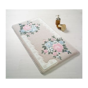Ružová predložka do kúpeľne Confetti June, 80×140cm