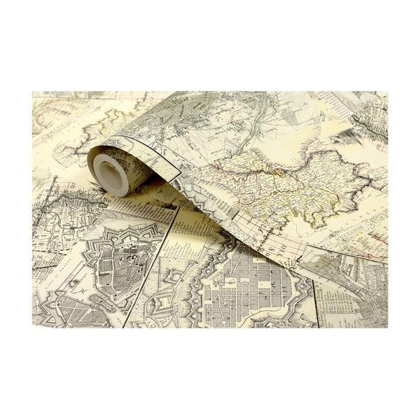 Tapetová rolka Stará mapa, 53x1005 cm