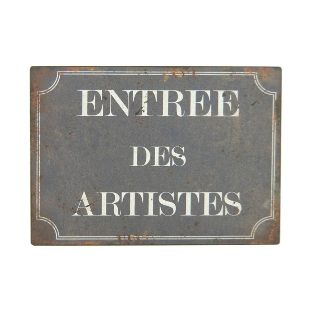 Plechová ceduľa Antic Line Entree Des Artistes
