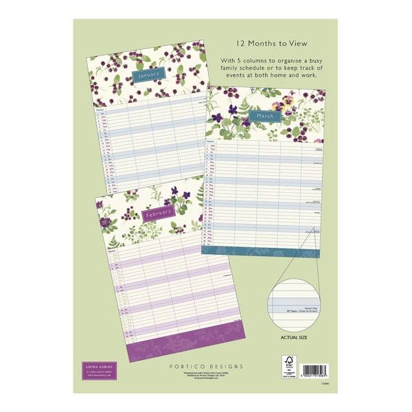 Rodinný kalendár A3 Portico Designs Laura Ashley