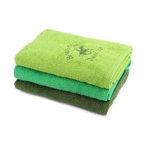 Sada 3 zelených uterákov BHPC, 50x100cm