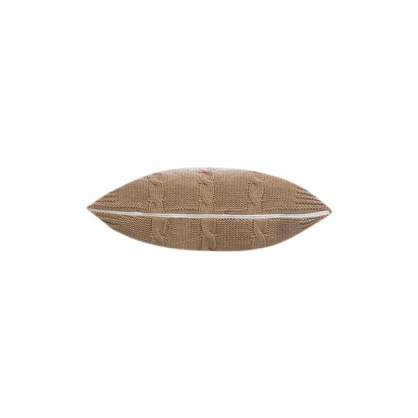 Pletená obliečka na vankúš Fancy Beige, 43x43 cm