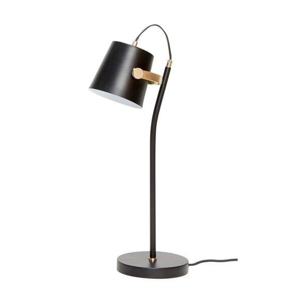 Čierna stolová lampa Hübsch Gorel