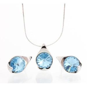 Set náhrdelníka a náušníc Laura Bruni Baby Blue