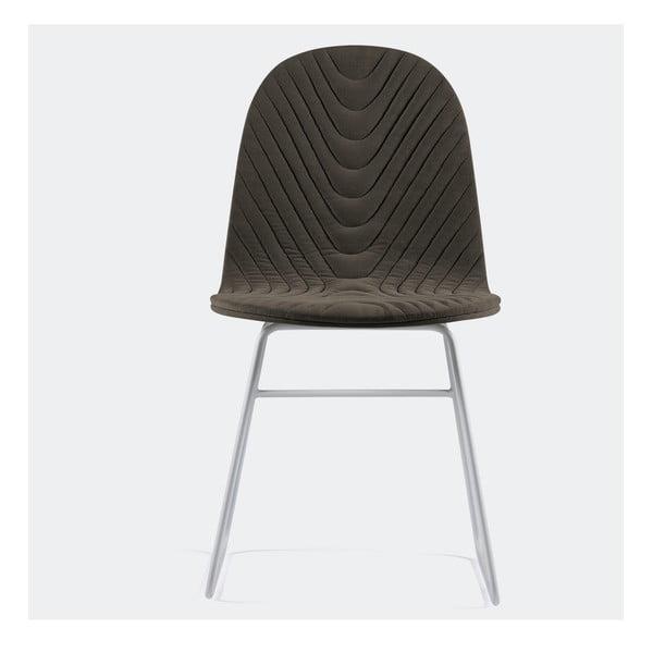 Stolička Mannequin V, tmavo sivá
