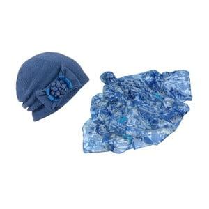 Modrá čiapka a šátek Lavaii Francesca