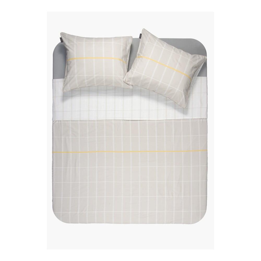 Béžová obliečka z bavlny Ambianzz, 220 x 140 cm
