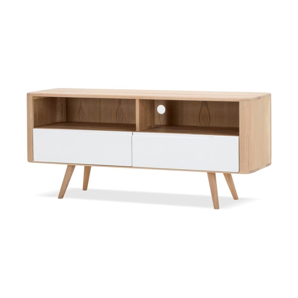 Televízny stolík z dubového dreva Gazzda Ena Three, 135 × 42 × 60 cm