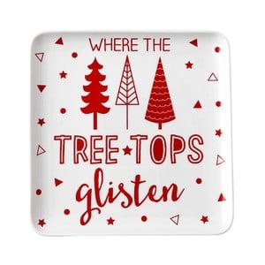 Servírovací tanier s vianočným motívom Ladelle Noell Text