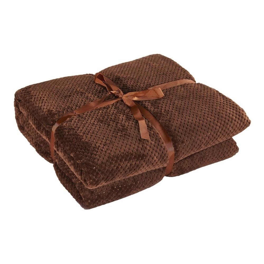 Hnedá deka z mikrovlákna DecoKing Henry, 70 × 150 cm