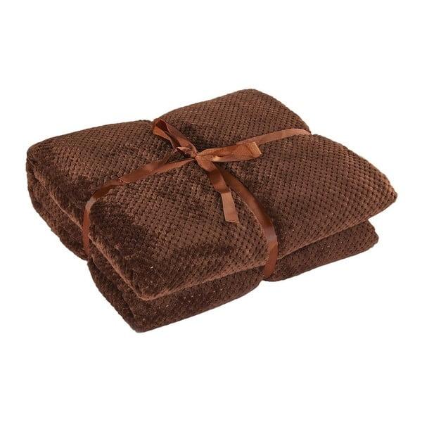 Hnedá deka z mikrovlákna DecoKing Henry, 150×200cm