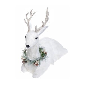 Biela dekorácia Ewax Ciervo, výška 30 cm