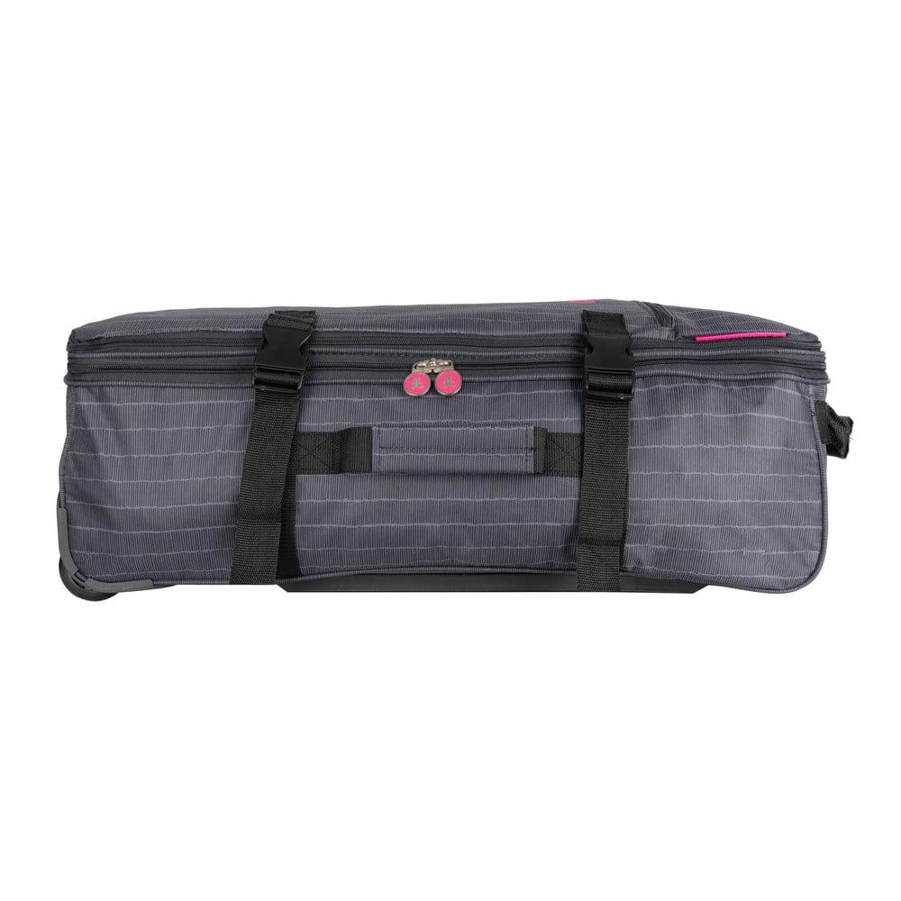 Sivá cestovná taška na kolieskach Lulucastagnette Rallas, 91 l