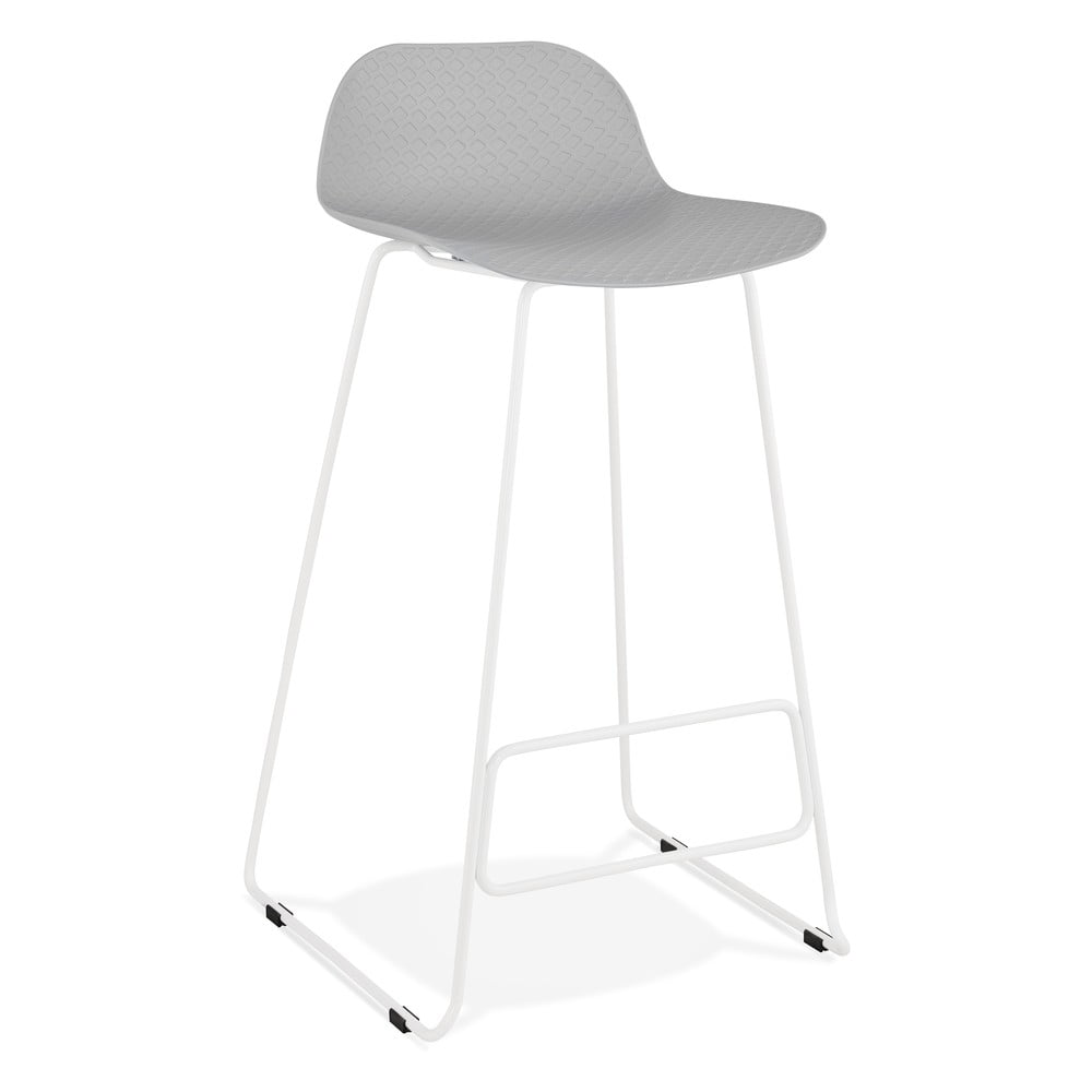 Sivá barová stolička Kokoon Slade, výška sedu 76 cm