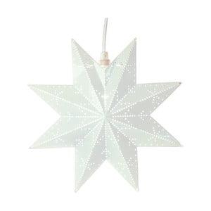 Kovová svietiaca hviezda v bielej farbe Best Season Brass Star Classic