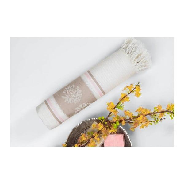 Svetlá hnedo-béžová hammam osuška Deco Bianca Loincloth Beige Stripe, 80x170cm