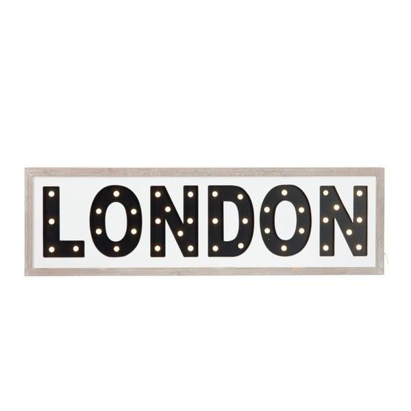 LED ceduľa London Black