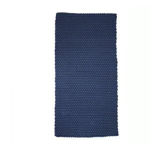 Modrý koberec Simla Simple, 140 × 70 cm